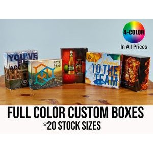 CUSTOM PRESENTATION & MAILER BOXES (25+ Stock Sizes) Full Color w/ High Gloss Film Laminate Finish
